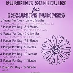 Here's a schedule for my pumping mamas!!! Happy Friday's gorgeous moms of ig…