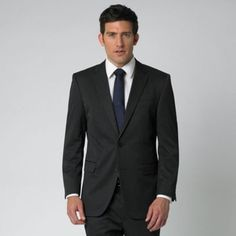 Proof that a navy tie DOES work with a black suit ...