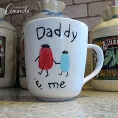 Father's Day fingerprint mug