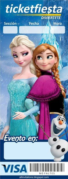35 Mejores Imágenes De Invitaciones De Frozen Invitaciones