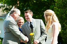 Groom Recognizes Brides Parents During Wedding Ceremony