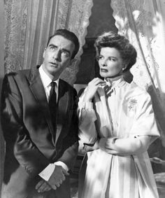 """Montgomery Clift y Katharine Hepburn en """"De Repente el último verano"""", 1959"""