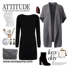 Lazy Day Mood by soniaaicha on Polyvore featuring polyvore, fashion, style, Cocoa Cashmere, Lands' End, Jérôme Dreyfuss, Anastasia Beverly Hills, Coach, Urban Outfitters, Anja and clothing