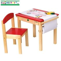 Art Table And Chair Set (Red)