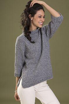 Tahki Zona Confidence Pullover PDF Downloadable Knitting Pattern