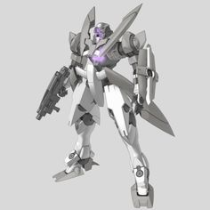 "GNX-603T GN-X (aka GN-X, pronounced ""Jinx"") is a series of mass production mobile suits by the United Nations Forces in season 1 of Mobile Suit Gundam 00. Equiped With GN Beam Rifle. Front"