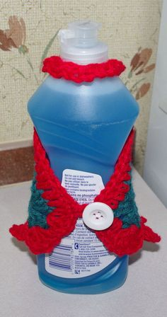 Granny Square Dish Soap Dress Free Crochet Pattern (back view)