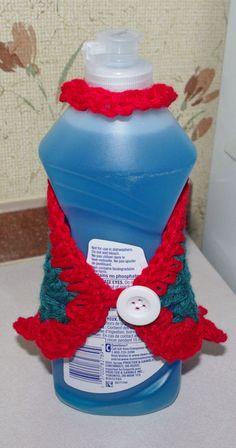 1000+ images about Crochet Dish Soap Bottle Aprons & Hand ...