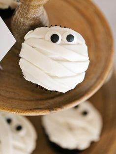 Mummy Cupcakes in 40 Sweet and Salty Halloween Snack Recipes from HGTV