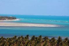 Praia do Gunga é localizada em Maceió, Alagoas. Possui águas calmas, cristalinas e verdes!! Além de nos encantar com esse exuberante mar, a paisagem conta com belas rochas íngremes, e falésias de areia colorida. Não dá vontade de correr para lá?!