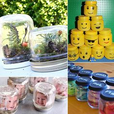 Recycling's great, but upcycling is both fun and productive! Baby food pouches may be slowly overtaking traditional glass jars when it comes to little ones' Crafts With Glass Jars, Small Glass Jars, Mason Jar Crafts, Bottle Crafts, Mason Jars, Baby Jars, Baby Food Jars, Food Baby, Baby Food Jar Crafts