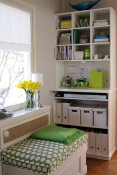 Organization!!! Great for small spaces, but room to go up for storage!
