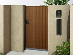 YKKAPの門扉 ルシアス門扉BW03型 たて板張り(鋲なし) 片開き 木調カラー Tall Cabinet Storage, Entrance, Doors, Tips, Outdoor, Furniture, Home Decor, Templates, Outdoors