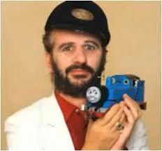 Ringo with Thomas the tank engine