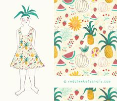 red cheeks factory:- tropical party dress
