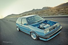 Digging this blue VW GTI MKII