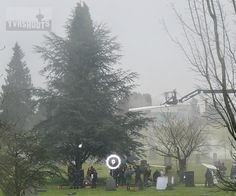 "Ruby and the gang — Henry (Jared Gilmore), Emma (Jennifer Morrison), Hook (Colin O'Donoghue), Regina (Lana Parrilla), Charming (Josh Dallas) and Snow (Ginnifer Goodwin) — in the cemetery.-  Behind the scenes - 5 * 19 ""Sisters"" - 6 Feb 2016"