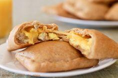 Breakfast Hot Pockets Recipe Whole Wheat Freezer ~ http://fromscratchtoplate.com/2012/04/08/whole-wheat-breakfast-pockets/