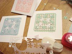 85.クラフトパンチとクラフトバサミで簡単お花のカード   簡単手作りカード Chocolate Card Factory