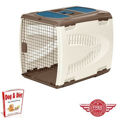 Ergonomic Pet Pen,Cage,Medium Dog Doggie,Metal Door Kennel Crate Container Carrying Handle Furniture and E book by Easy2Find >>> Find out more details by clicking the image : Dog kennels