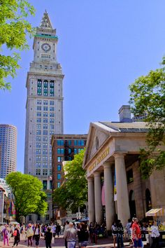 Boston-Quincy Market. I've been here :) I loved it.  I want to go again.  Especially to the sweets shop nearby.