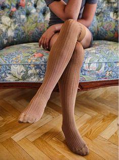 fc64070e9 Swedish Stockings Ella Rib Over-Knee Socks in Camel — One Small Shop Over  Knee