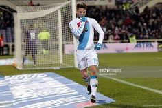 Dries Mertens of SSC Napoli celebrates after scoring a goal during the Serie A match between ACF Fiorentina and SSC Napoli at Stadio Artemio Franchi on December 22, 2016 in Florence, Italy.