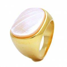 Anel Com Madrepérola Semi-jóia - Rivera Jóias