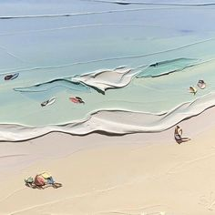Artist Sally West creates textured oil paintings that capture the many beaches of Australia in her distinct impasto style. Abstract Landscape Painting, Landscape Paintings, Painting Inspiration, Art Inspo, Sally West, Art Plage, Oil Painting Texture, Body Painting, Guache