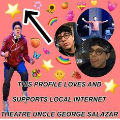 Gay cousin with gay uncle George Salazar, Musical Theatre, Waitress Musical, Michael In The Bathroom, Be More Chill Musical, Michael Mell, Chill Pill, Dear Evan Hansen, Staying Alive