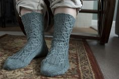 Ravelry: Red Rover Cable Socks pattern by Jennifer Hagan