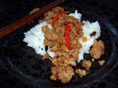 Spicy Minced Pork Rice Porridge