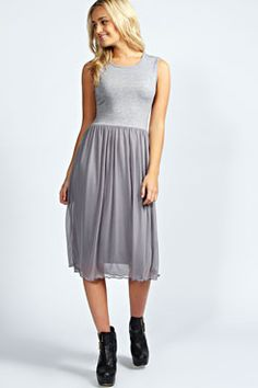 Sophia Mesh Overlay Midi Dress £15