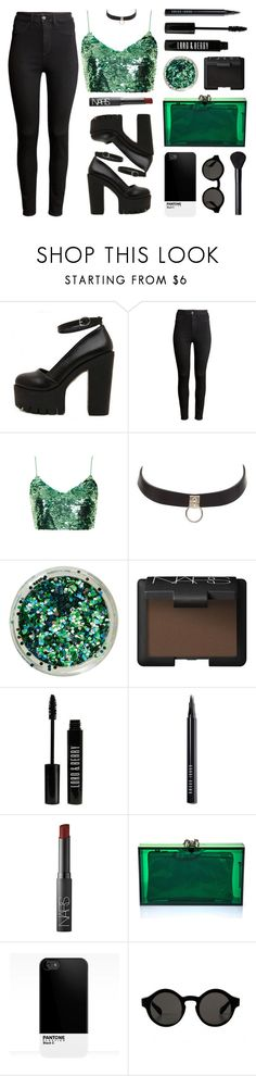 """Mermaid"" by baludna ❤ liked on Polyvore featuring H&M, Topshop, Charlotte Russe, NARS Cosmetics, Lord & Berry, Bobbi Brown Cosmetics and Charlotte Olympia"