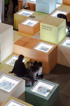 tabletop light boxes...and you can sit on them!