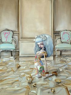 Synesthesia Garden - a weird art + style blog   » pop surrealism..lolita slave toys?
