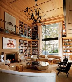 """Galerie Magazine: """"In the double-height library of collector @EugenioLopeza's art-packed residence in Mexico City,…"""""""