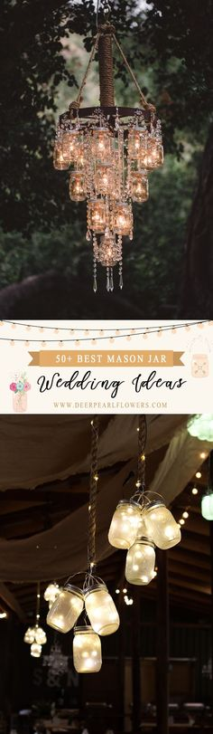 Mason jar wedding decor ideas #weddings #weddingideas #wedingdecor #weddinginspiration #dpf #deerpearlflowers