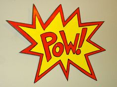 Comic Book POW sign by banishedproductions on Etsy Homecoming Hallways, My Boys, Party Time, Spiderman, Comic Books, Marvel, Cartoon, Signs, Comics