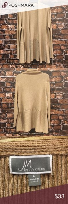 Women's L JM Collection Tan Cardigan *NWT 🔥 The perfect mix, match, and layer Cardigan!! Tan JM Collection size Large! Fitted sleeves! Comfort fit! NEW WITH TAGS! In great condition! (WT607) 🔥 JM Collection Sweaters Cardigans