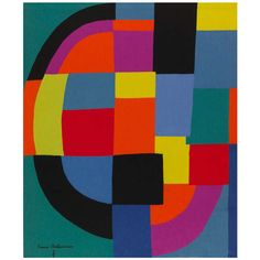 Sonia Delaunay Tapestry | From a unique collection of antique and modern tapestries at http://www.1stdibs.com/furniture/wall-decorations/tapestry/