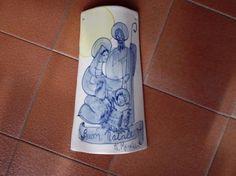 Tegola in ceramica ( cm 12 x 21 h  kg 0,200 ) .Fatto a mano . Pezzo unico.