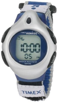 Timex Kids' T71962 IronKids Digital Blue Fast Wrap Velcro Strap Watch « Holiday Adds