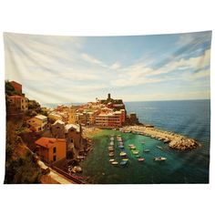 Happee Monkee Summer in Vernazza Tapestry   DENY Designs Home Accessories