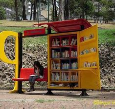mini-libraries in bogota, colombia: they bring books to every neighborhood. (photo via african library project) // The Accessible City