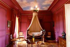 Chateau de Villandry, Villandry, France interior | pink bedroom, Château de Villandry, Loire Valley, France