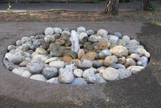 If you love the gushing sound of a fountainbut are less crazy about having open water or fish in your yard (especially if you have children), this decorative rock fountain may be for you. Requiringinexpensive and easy-to-find materials, this fountain will cost you less than $200. Get the tutorial at Instructables.