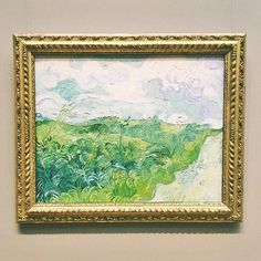 Vincent Van Gogh 'Green Wheat Fields, Auvers' Oil on Canvas 1890 Paper People, Art Corner, National Gallery Of Art, Vincent Van Gogh, Oil On Canvas, Craft Supplies, Whimsical, Vintage World Maps, Drawings