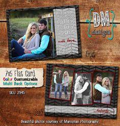 Chevron Photo Christmas Card / Holiday Card / Digital Christmas Card / Printable Christmas Cards /  Custom Christmas Cards / DM2945