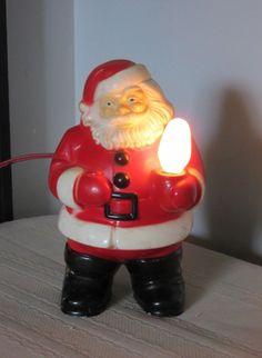 23cee47db43d5 Details about Vintage 1950s 1960 s Hard Plastic SANTA CLAUS Light Bulb  Ornament